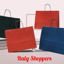 Shopper Italy Colorata (40+12x31) Pz 200