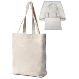 Shopper Cotone Con Zip (34x10x36)