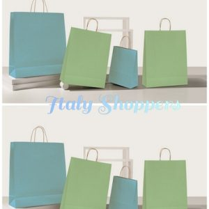 Shopper carta bio colorata