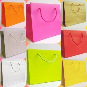 Sacchetti in carta elegante colorata